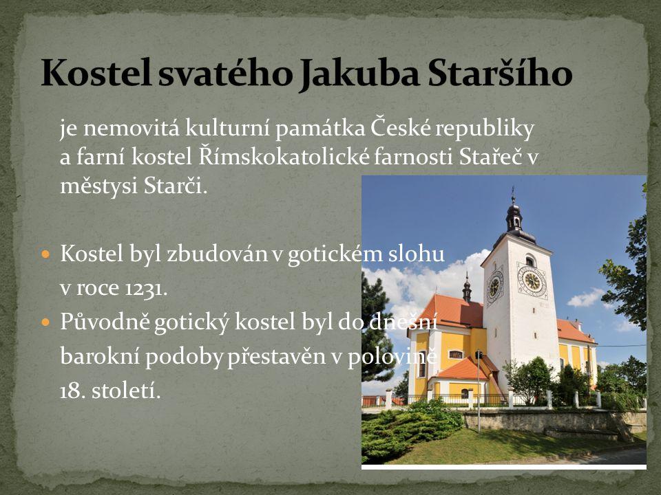 je nemovitá kulturní památka České republiky a farní kostel Římskokatolické farnosti Stařeč v městysi Starči.