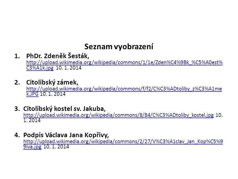 Seznam vyobrazení 1.PhDr.