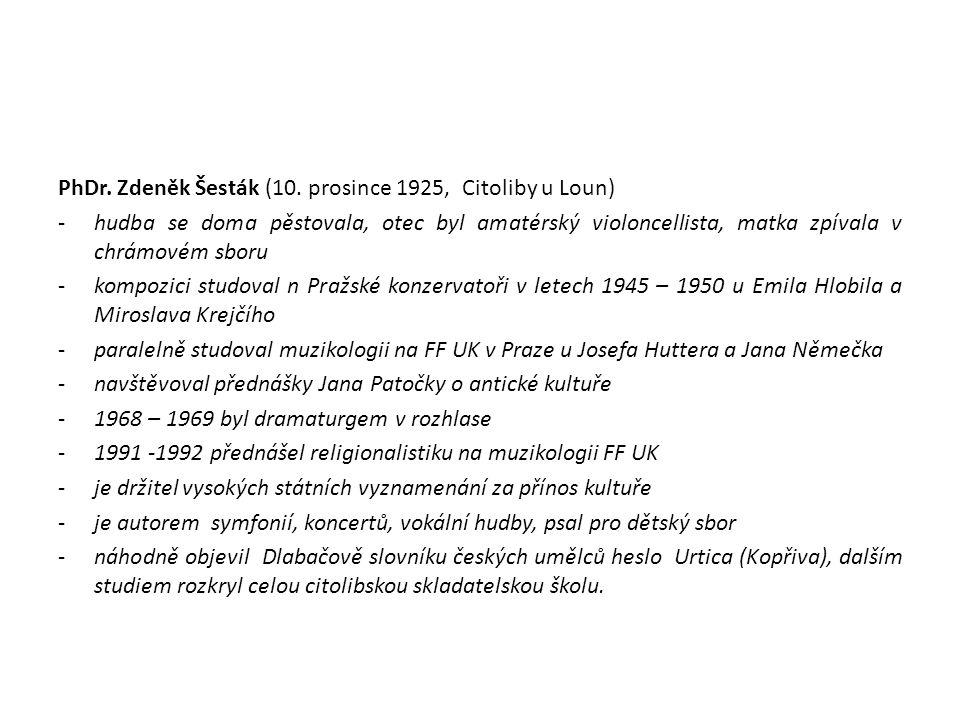 PhDr.Zdeněk Šesták (10.