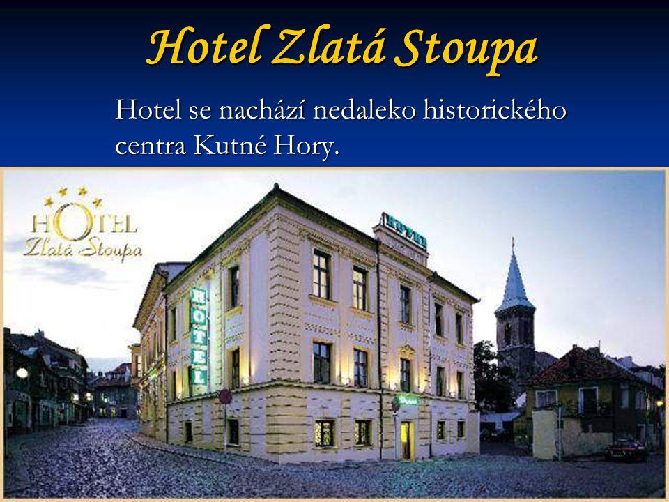 Hotel Zlatá Stoupa Hotel se nachází nedaleko historického centra Kutné Hory.
