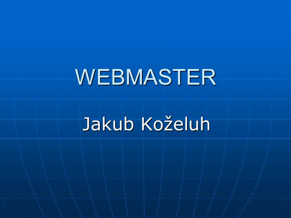 WEBMASTER Jakub Koželuh