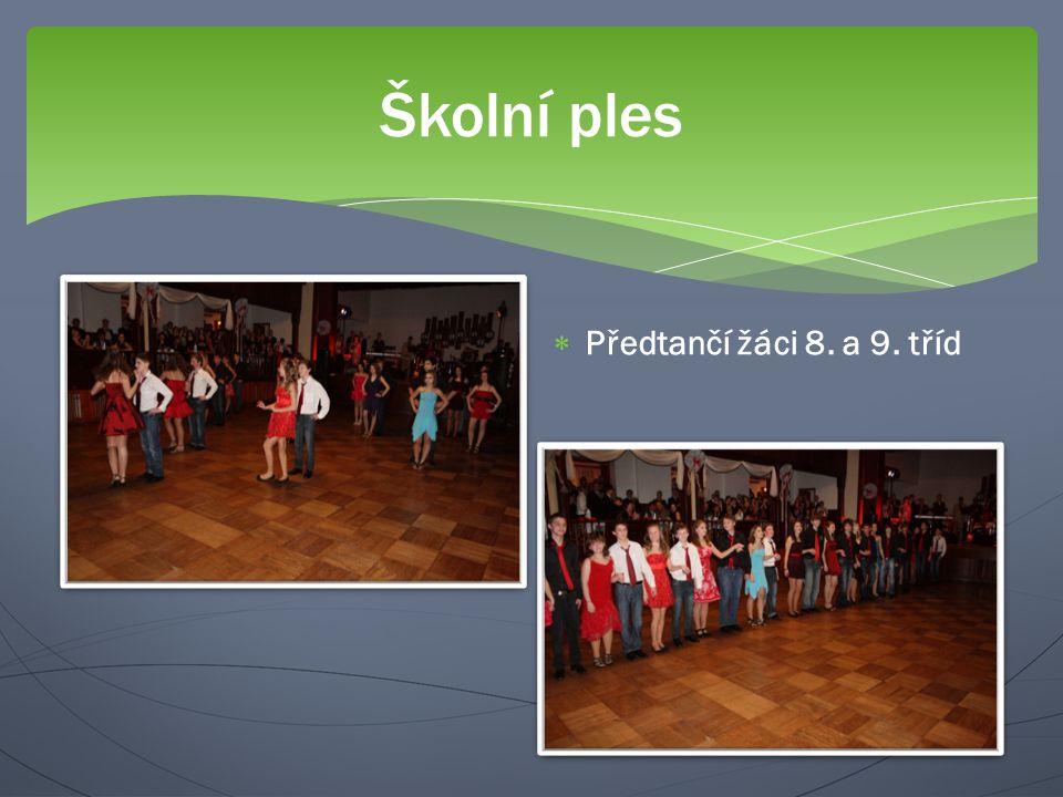 Školní ples  Předtančí žáci 8. a 9. tříd