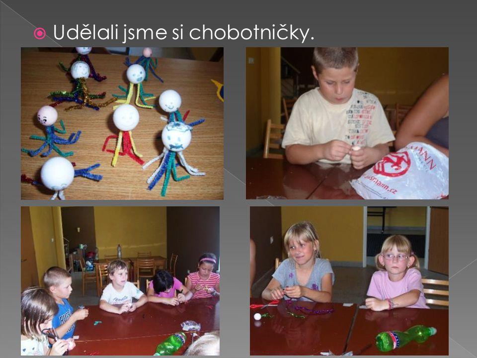  Udělali jsme si chobotničky.