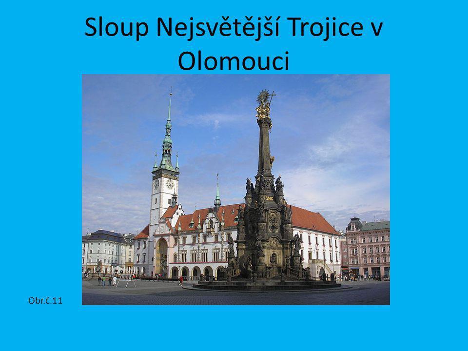 Sloup Nejsvětější Trojice v Olomouci Obr.č.11