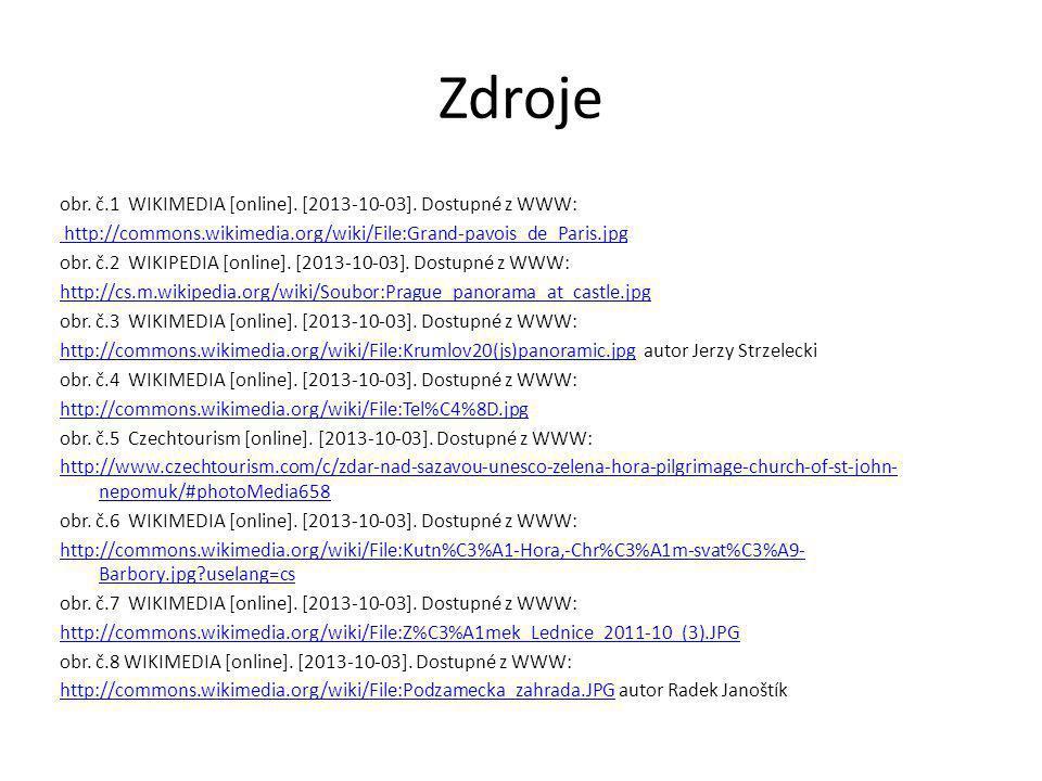 Zdroje obr.č.1 WIKIMEDIA [online]. [2013-10-03].