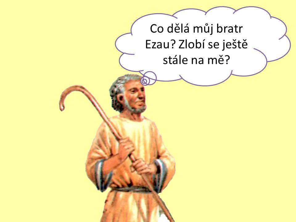 Co dělá můj bratr Ezau? Zlobí se ještě stále na mě?