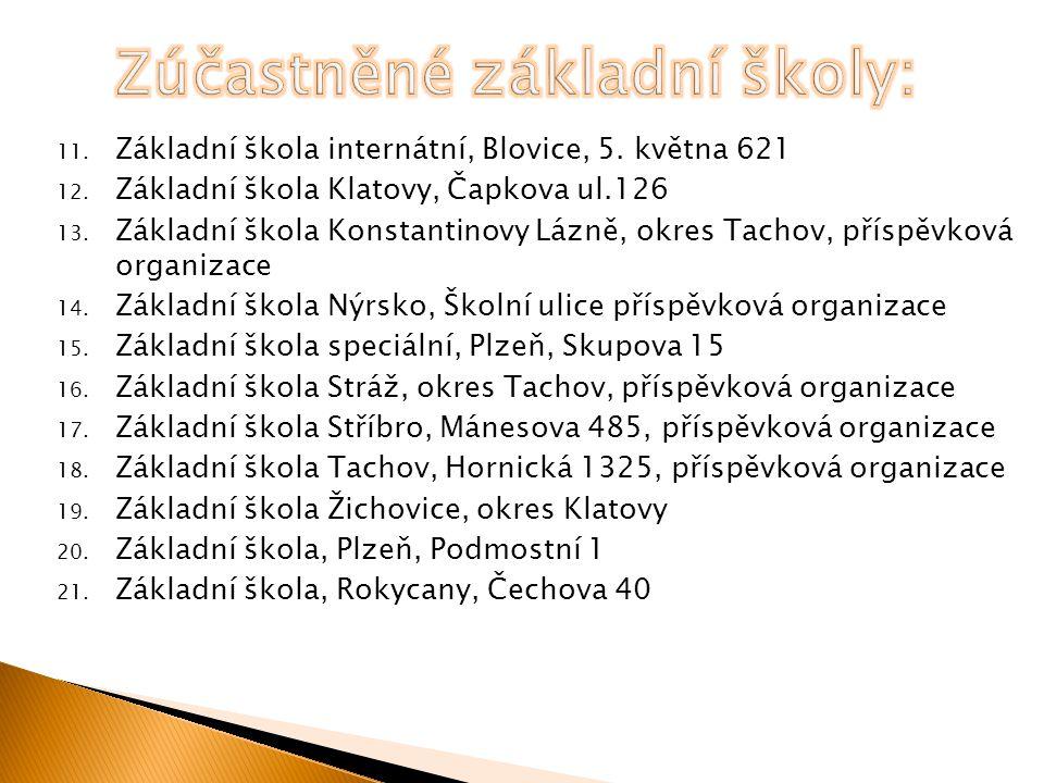 11. Základní škola internátní, Blovice, 5. května 621 12.