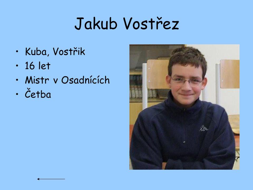 Jakub Vostřez Kuba, Vostřik 16 let Mistr v Osadnících Četba