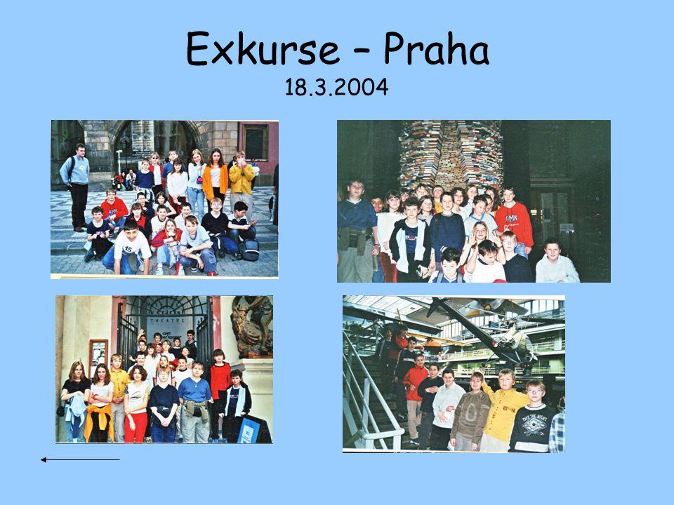 Exkurse – Praha 18.3.2004