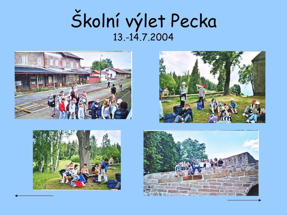Školní výlet Pecka 13.-14.7.2004