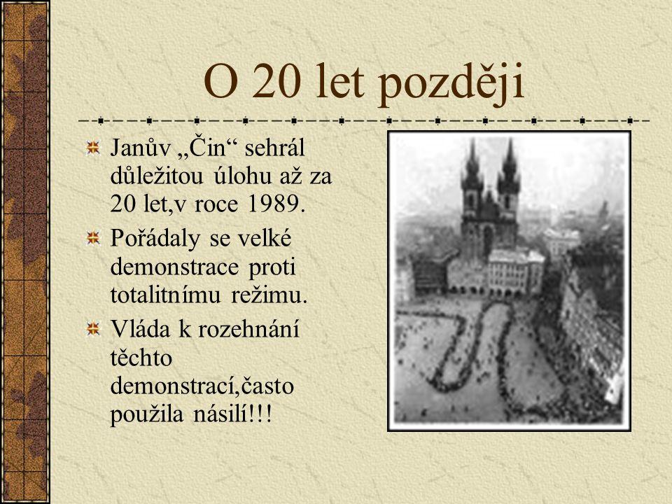 """O smyslu Janova činu Poslanec Vilém Nový si vymýšlel o Janovi samé lži a chtěl to rychle """"schovat do šuplíku"""",aby to nevyvolalo vlnu revoluce To se mu"""