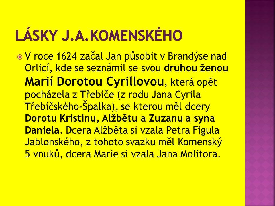  V roce 1624 začal Jan působit v Brandýse nad Orlicí, kde se seznámil se svou druhou ženou Marií Dorotou Cyrillovou, která opět pocházela z Třebíče (