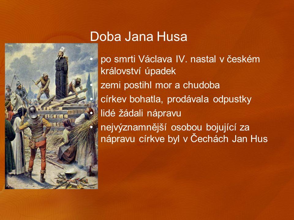 Jan Hus narodil se v jihočeské vesničce Husinci vystudoval Karlovu univerzitu a stal se zde Mistrem byl vysvěcen na kněze kázal v Betlémské kapli