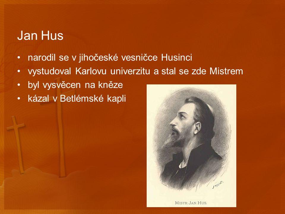 Kázání kvůli Husovi byly v Praze zakázány církevní obřady Hus odešel na venkov nadále kázal a psal svá pojednání