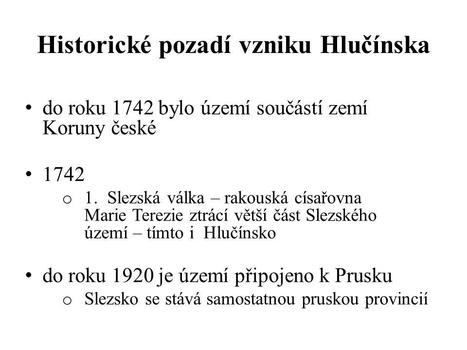 1920 - 1938 o na základě Versailleské smlouvy se území stává součástí Československa 1938 - 1945 o připojení k nacistickému Německu 1945 - 1993 o součást ČSSR 1993 – současnost o součást České republiky