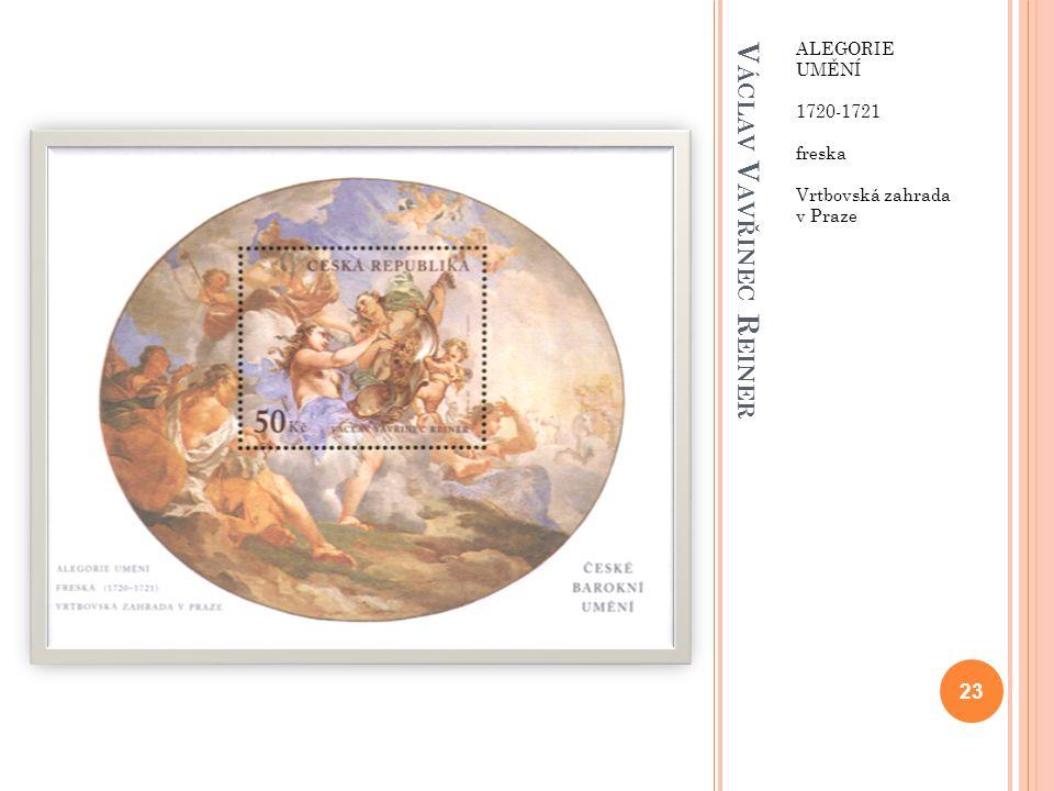 V ÁCLAV V AVŘINEC R EINER ALEGORIE UMĚNÍ 1720-1721 freska Vrtbovská zahrada v Praze 23