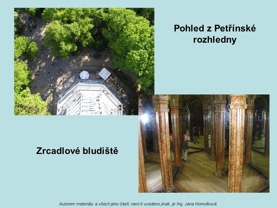 Pohled z Petřínské rozhledny Zrcadlové bludiště
