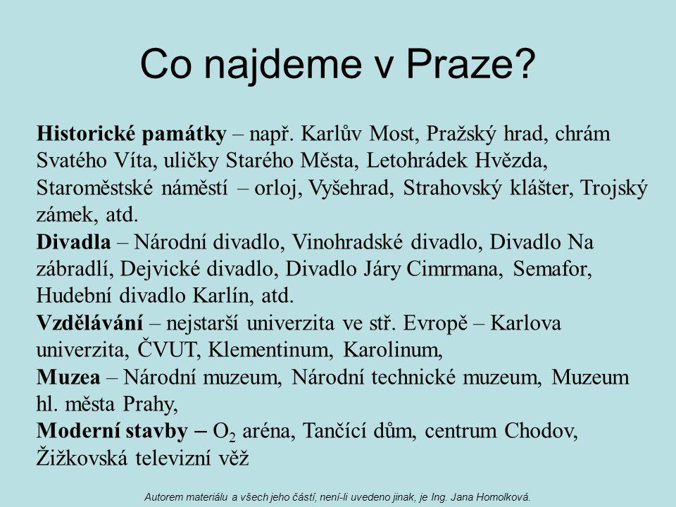 Co najdeme v Praze. Historické památky – např.
