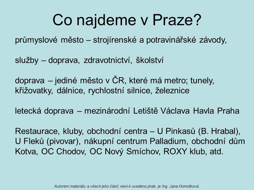 Co najdeme v Praze.