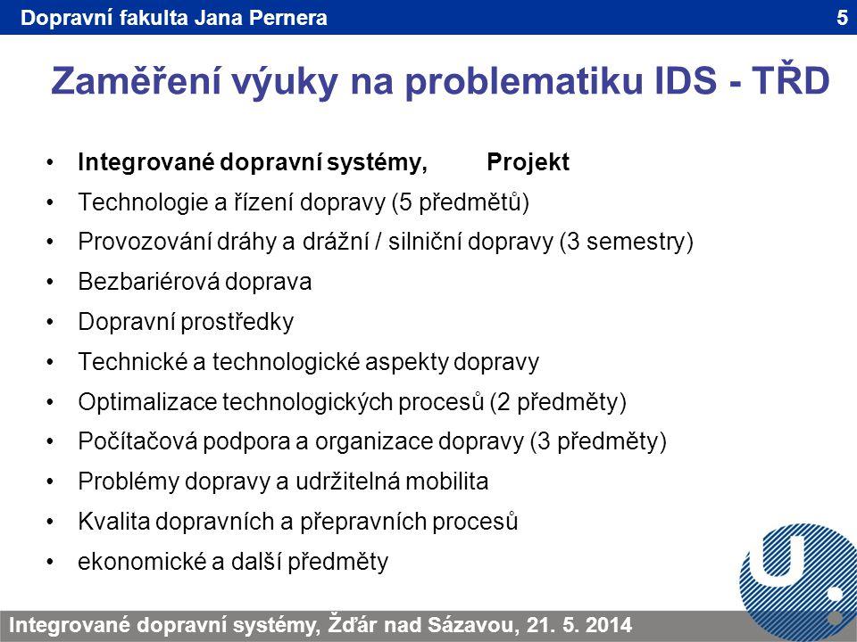 Zaměření výuky na problematiku IDS - TŘD 5TRANSCOM - Žilina 200923.