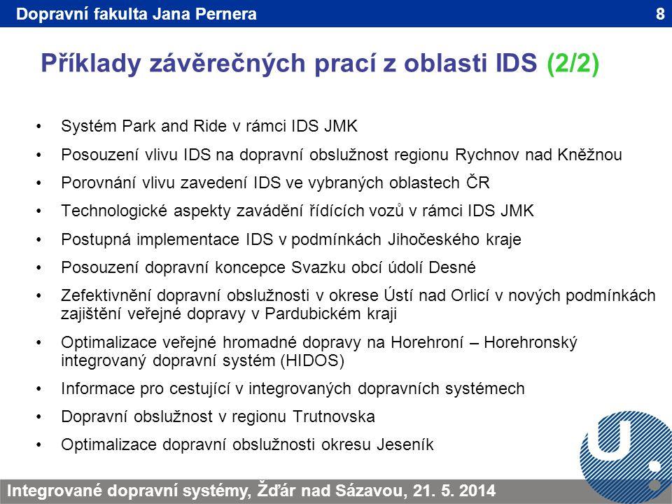 Příklady závěrečných prací z oblasti IDS (2/2) 8TRANSCOM - Žilina 200923.