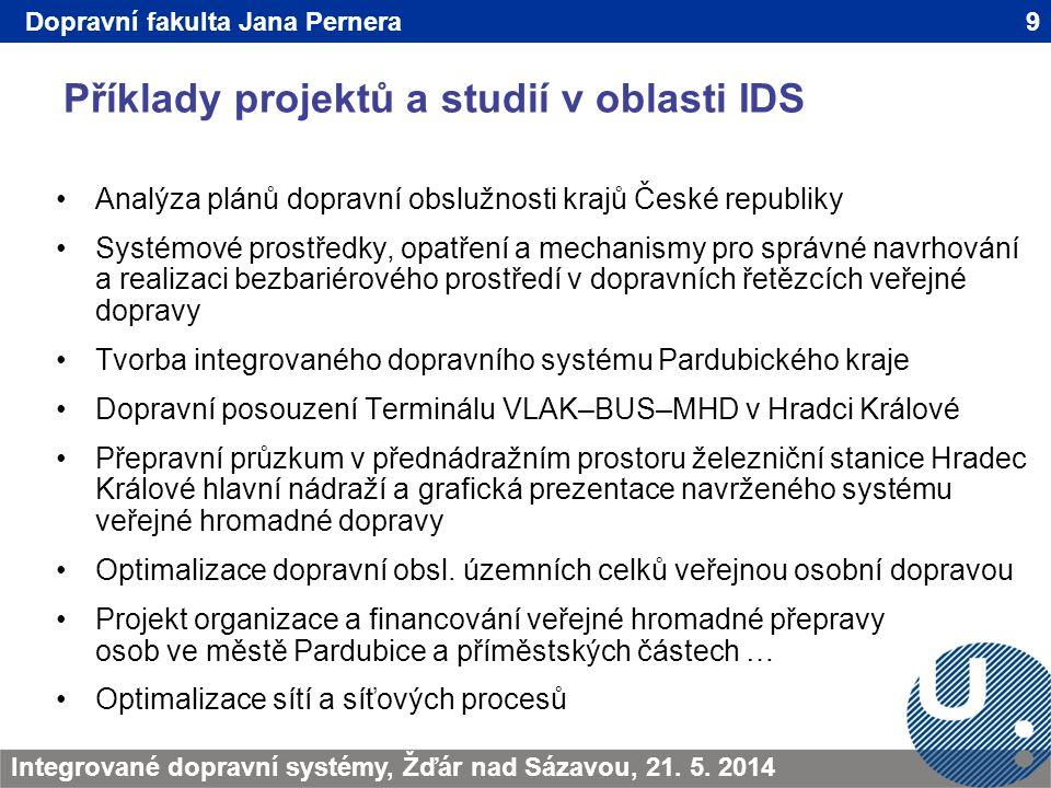 Příklady projektů a studií v oblasti IDS 9TRANSCOM - Žilina 200923.