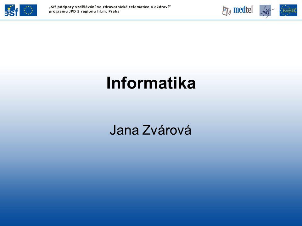 Trvalé ukládání a vyhledávání (registrace a ukládání údajů o nemocných, vytváření národních databází, databáze z údajů o primární péči) Lékařská nomenklatura a kódovací systémy (thesaury názvů léčiv, nemocí, kódovací systémy jako ICD nebo SNOMED) Ukládání a vyhledávání, databáze