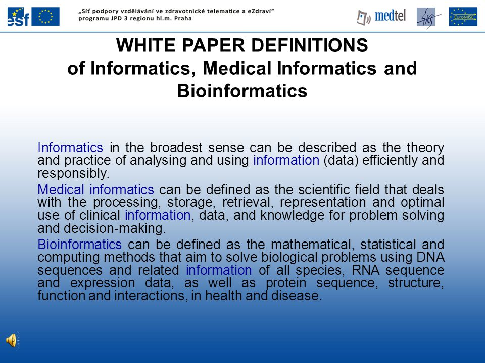 Informatics in the broadest sense can be described as the theory and practice of analysing and using information (data) efficiently and responsibly.