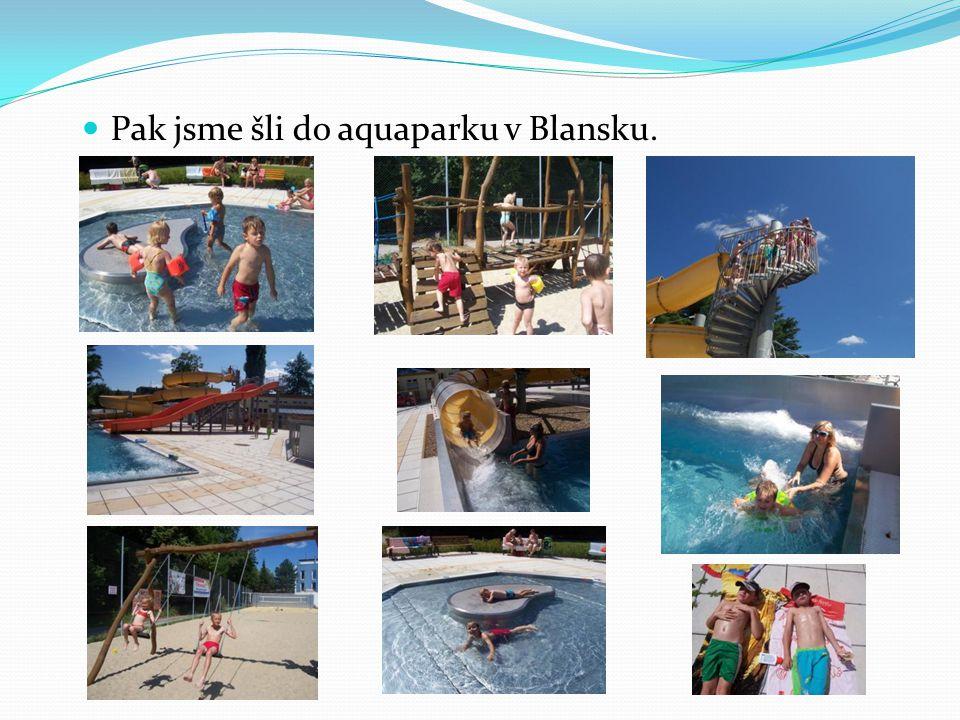 Pak jsme šli do aquaparku v Blansku.