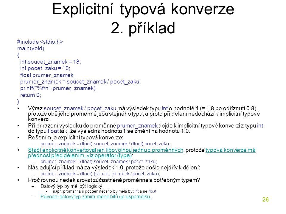 26 Explicitní typová konverze 2.