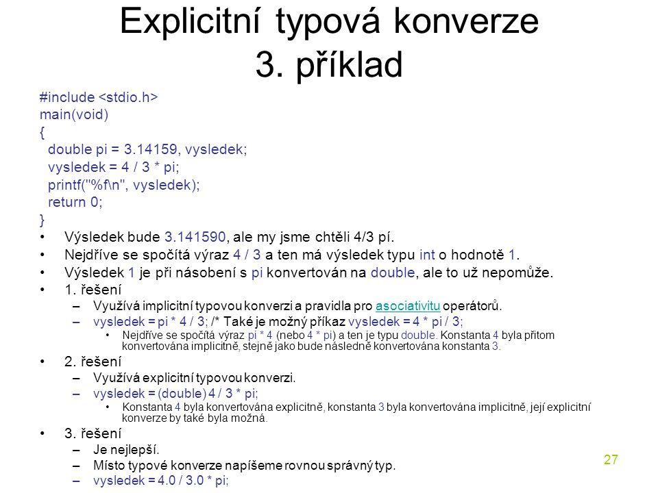 27 Explicitní typová konverze 3.