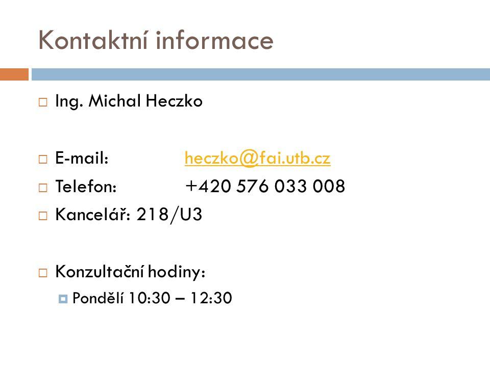 Kontaktní informace  Ing.