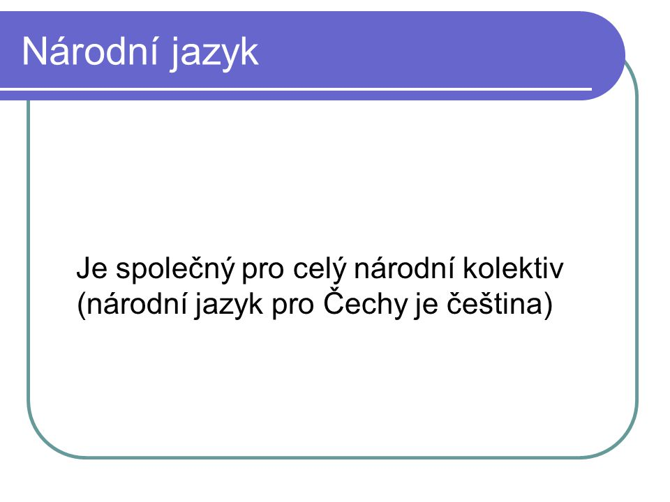 Písmo latinka (Češi, Slováci, Poláci, Chorvaté) azbuka – z cyrilice (Rusové, Bulhaři, Srbové, Makedonci)