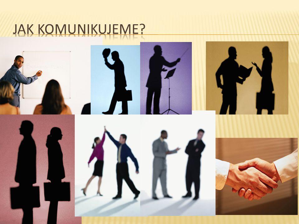  Verbální = mluvení, užití jazyka v mluvené či psané podobě  Neverbální = mimika, gesta a posuňky, fyzický kontakt (např.