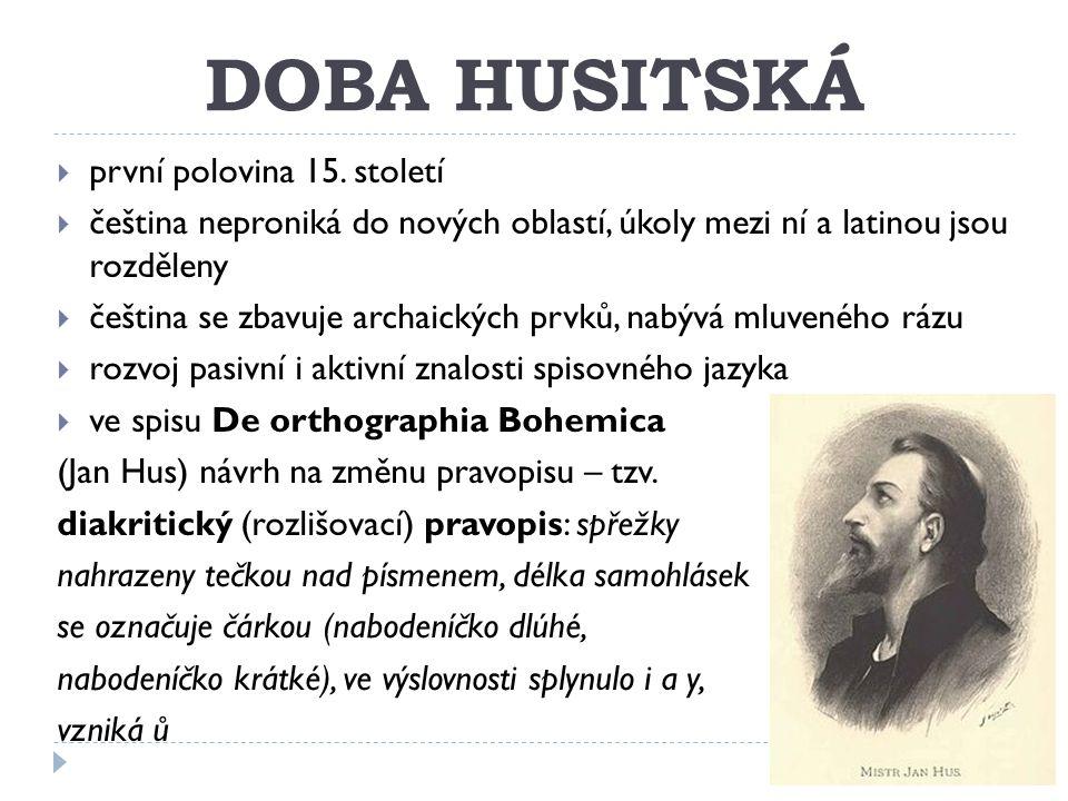 DOBA HUSITSKÁ  první polovina 15.