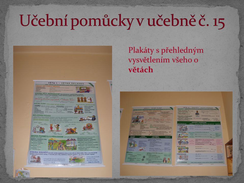 Plakáty s přehledným vysvětlením všeho o větách