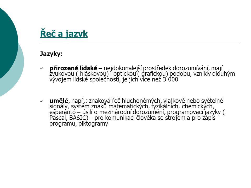 Použité zdroje: Krausová, Z., Pašková, M., Vaňková, J.: Český jazyk – učebnice pro základní školy a víceletá gymnázia.