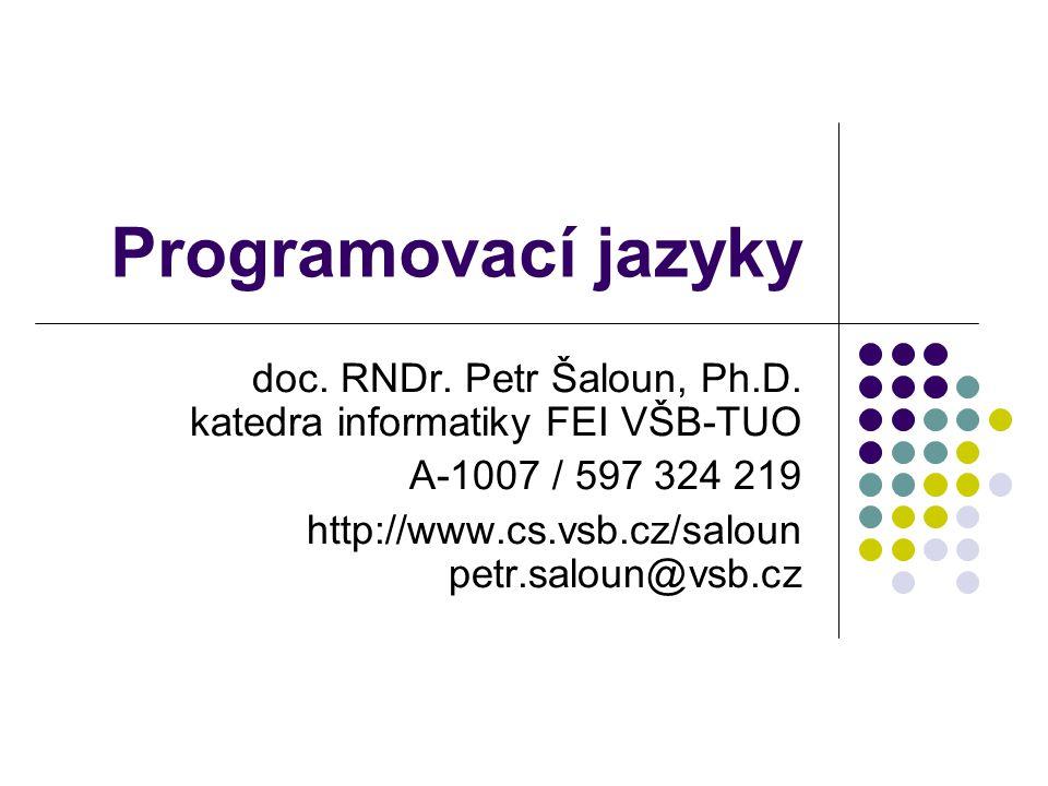 """ZPP - Programovací jazyky2 Obsah Co je to programovací jazyk Překlad a zpracování programu Nástroje pro tvorbu programů Metody popisu programovacích jazyků Typy programovacích jazyků Vývoj programovacích jazyků Studijní program """"Informační technologie (text převzat od doc."""