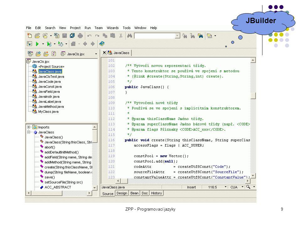 ZPP - Programovací jazyky9 JBuilder
