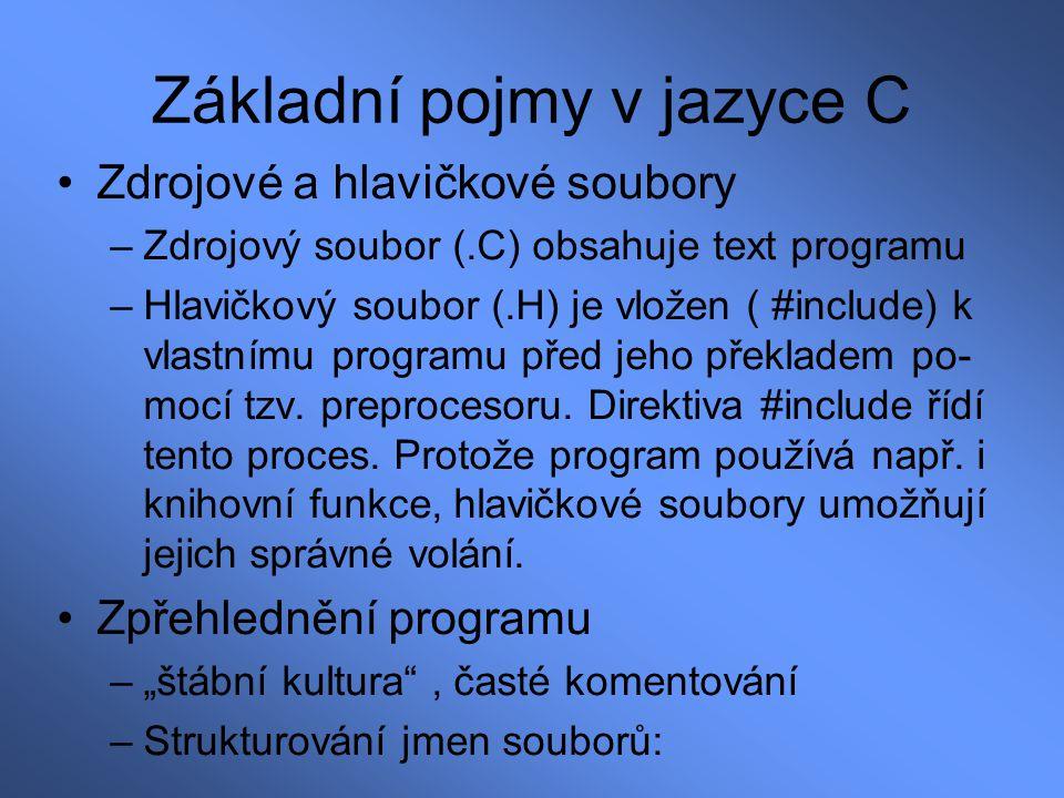 Kódy pro printf: Kódy pro scanf: