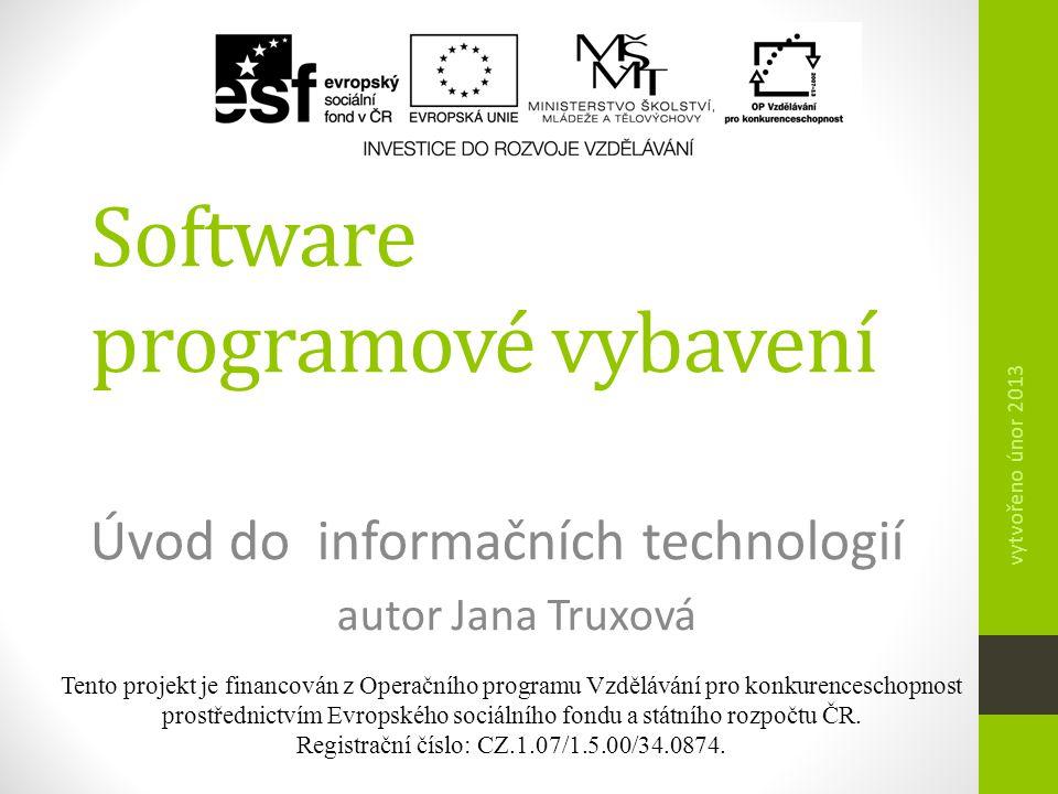 Tento projekt je financován z Operačního programu Vzdělávání pro konkurenceschopnost prostřednictvím Evropského sociálního fondu a státního rozpočtu Č