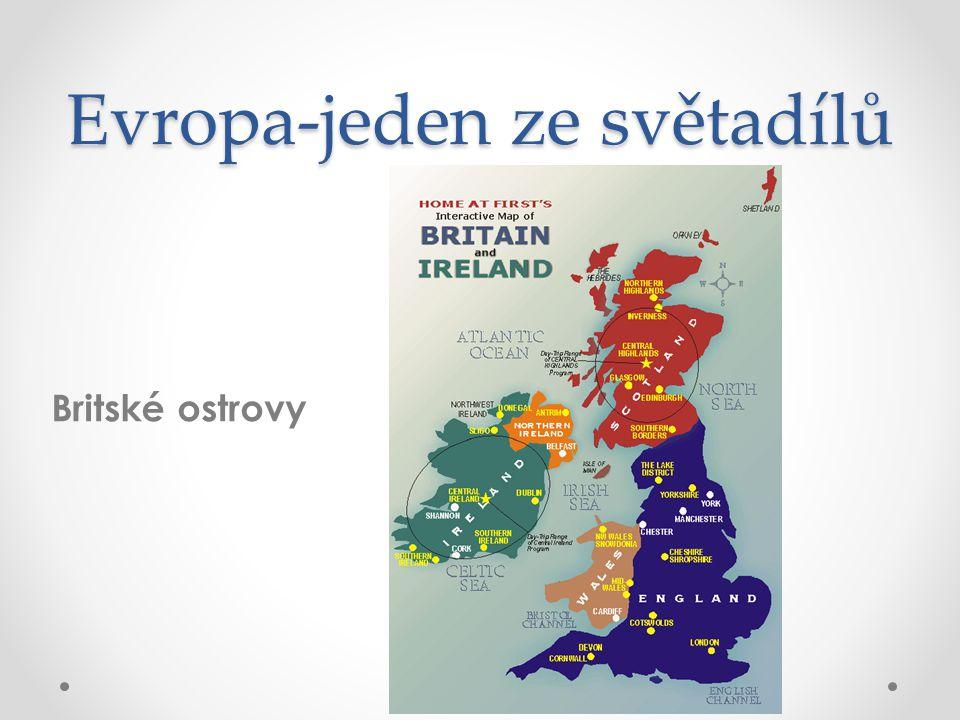 Evropa-jeden ze světadílů Britské ostrovy