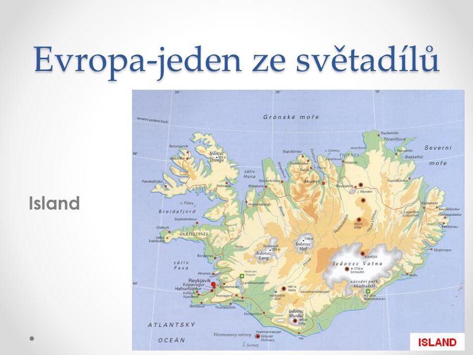 Evropa-jeden ze světadílů Island