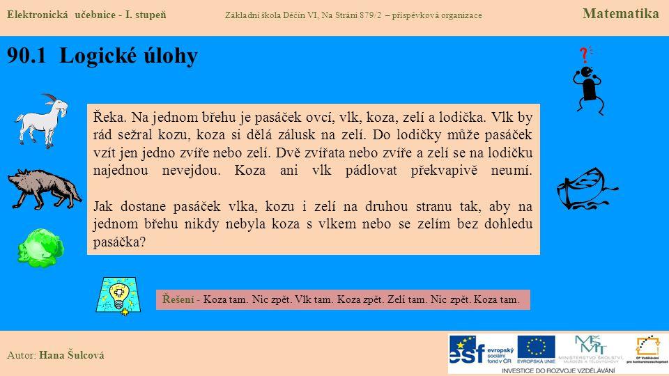 90.2 Logické úlohy Elektronická učebnice - I.