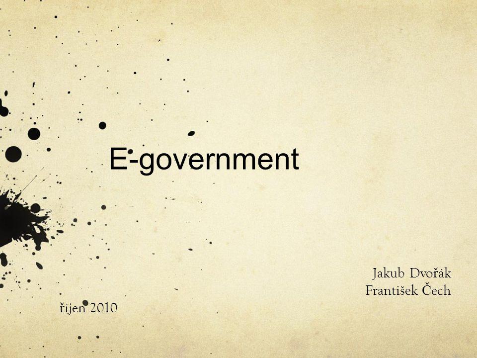 Co je e-government.