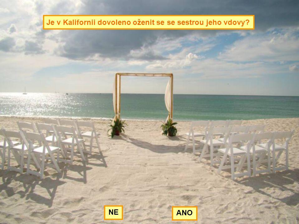 Je v Kalifornii dovoleno oženit se se sestrou jeho vdovy? NE ANO