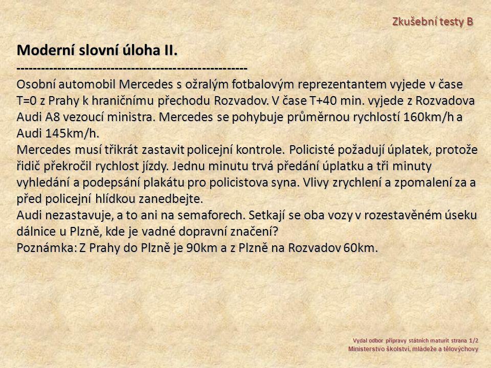 Moderní slovní úloha II.