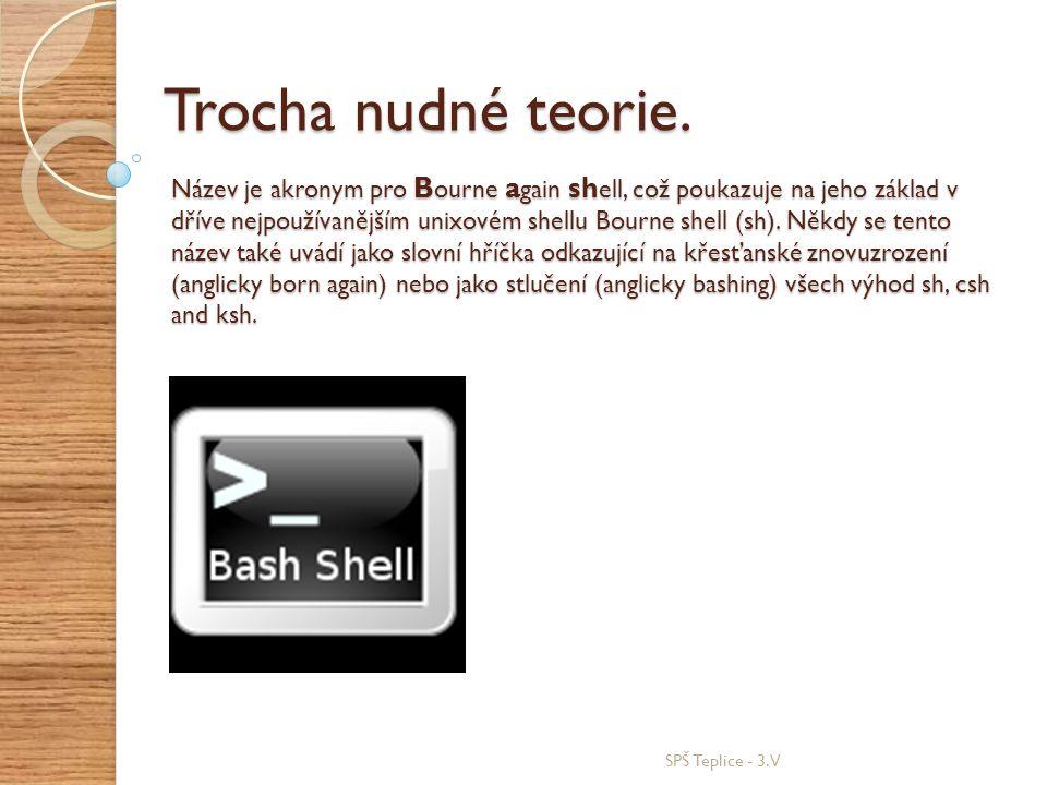 Název je akronym pro B ourne a gain sh ell, což poukazuje na jeho základ v dříve nejpoužívanějším unixovém shellu Bourne shell (sh). Někdy se tento ná