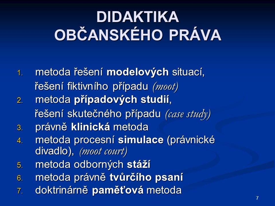 38 SOUKROMÉ PRÁVO OBJEKTIVNÍ A SUBJEKTIVNÍ (lex, law) Objektivní právo (lex, law) = soukromoprávní řád = část právního řádu = soukromoprávní řád = část právního řádu = soubor právních norem a právních = soubor právních norem a právních principů soukromoprávní povahy principů soukromoprávní povahy Subjektivní právo (oprávnění), (ius, right) Subjektivní právo (oprávnění), (ius, right) = míra a způsob právně možného chování = míra a způsob právně možného chování osob, vyplývajícího z právního řádu osob, vyplývajícího z právního řádu a chráněného státním prosazením a chráněného státním prosazením