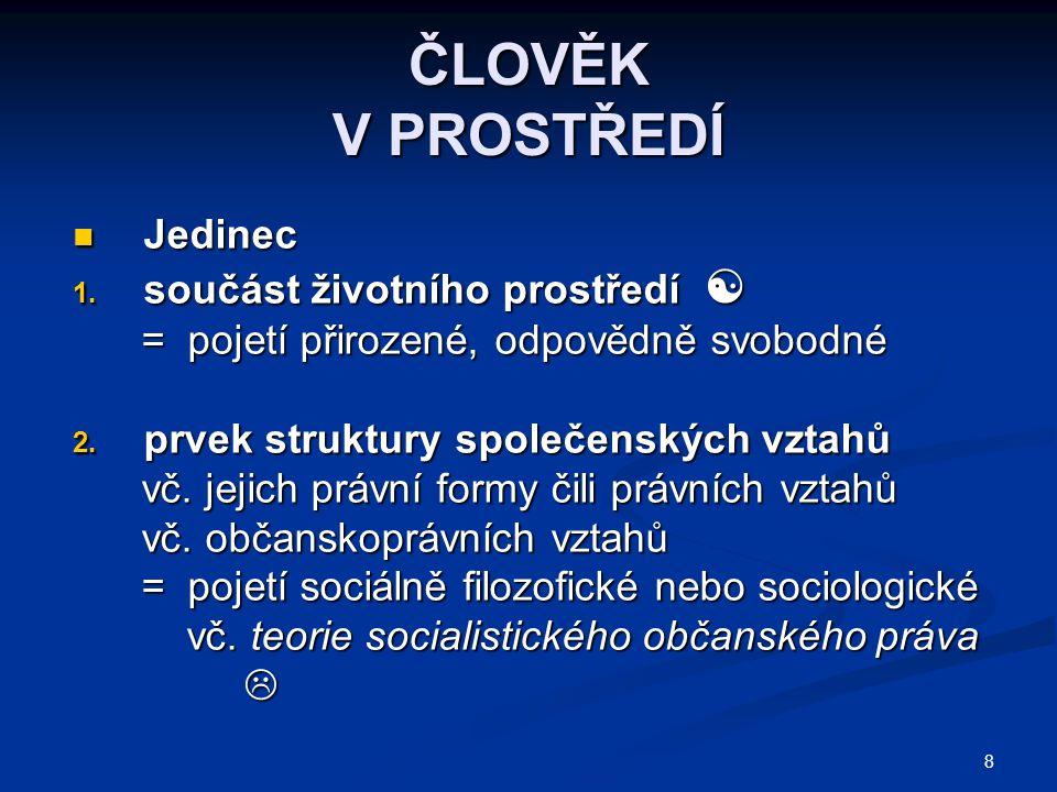 99 PRAMENY VZNIKU ČESKÉHO OBČANSKÉHO PRÁVA Ústavněprávní principy Ústavněprávní principy 1.